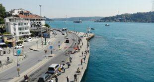 İstanbullular sahile akın etti, yoğunluk havadan görüntülendi